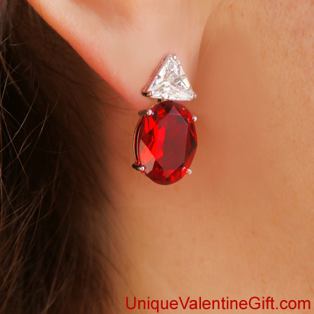 Purchase your Carmen L�cia Ruby Earrings online at uniquevalentinegift.com - Have a Special Valentine's Day