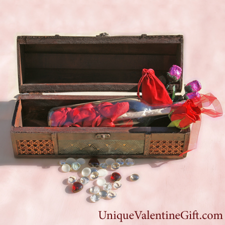 Purchase your Hearts and Roses Edition Treasure Chest online at uniquevalentinegift.com - Have a Special Valentine's Day