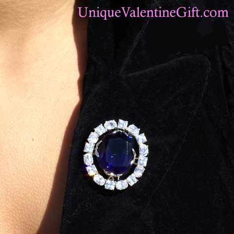 Purchase your Hope Diamond Pin online at uniquevalentinegift.com - Have a Special Valentine's Day