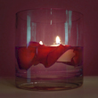 Floating Lovers Candle and Rose Petals
