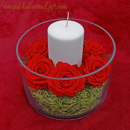 Immortal Scarlet Rose Centerpiece