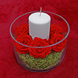 Immortal Scarlet Rose Centerpiece