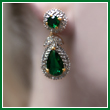 Jackie Kennedy Emerald Earrings