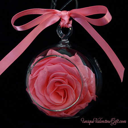 Pink Blush Rose Ornament